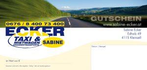 Gutscheine von Taxi Ecker